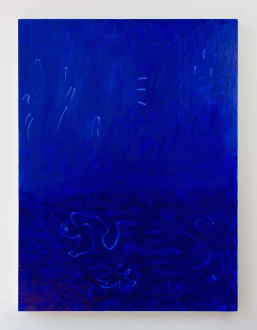 Thalassic, 2016, oil on birch panel, 30″ x 40″
